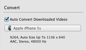 One button to convert downloaded